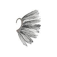 Black feather statement ear cuff