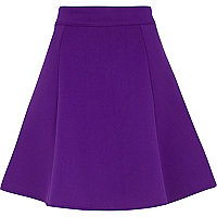Purple scuba skater skirt