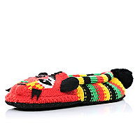Multicoloured stripe Tiger slipper socks