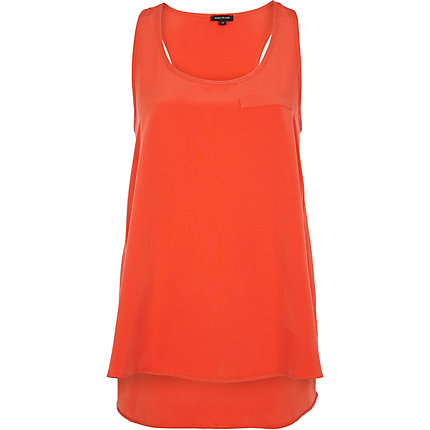 Orange racer back vest