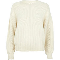 Cream angora cocoon jumper