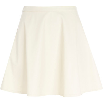 Cream coated skater skirt