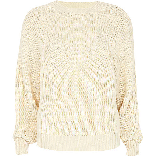 Cream cocoon jumper