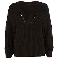 Black cocoon jumper
