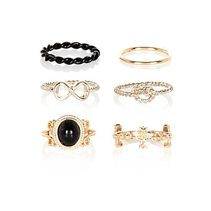 Eclectic midi and finger rings pack