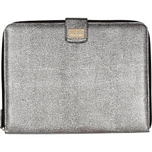 Silver metallic embossed laptop case