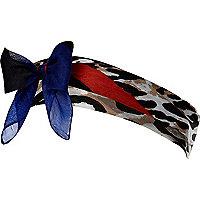 Brown leopard print head scarf