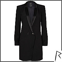 Black Rihanna tuxedo dress