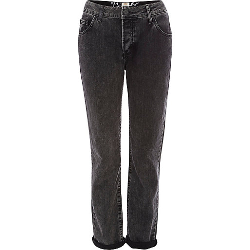 Black washed Lexie slim boyfriend jeans