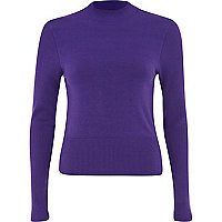 Purple cropped jumper
