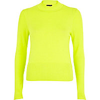 Lime cropped jumper