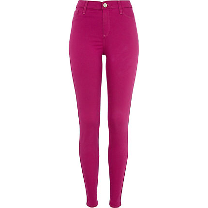 Bright pink Molly jeggings