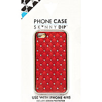 Red Skinnydip diamante iPhone 4/4S case