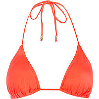 Fluro orange triangle bikini top