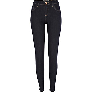 Dark raw wash Amelie superskinny jeans