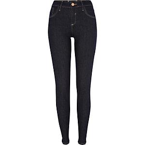 Dark raw wash Amelie superskinny jeans