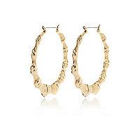 Gold tone creole hoop earrings