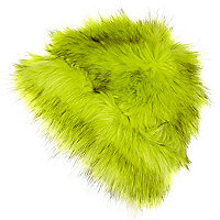 Bright lime faux fur beanie hat