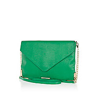 Green snake cross body bag