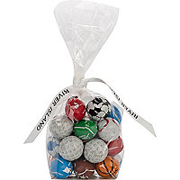 Sports ball mini chocolates bag