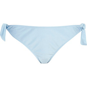 Light blue tie up bikini bottoms