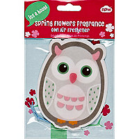 Owl spring flowers car air freshener