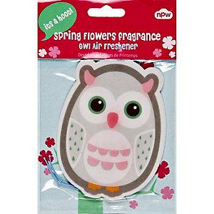 Owl spring flowers car air freshener