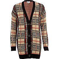 Red check Chelsea Girl cardigan