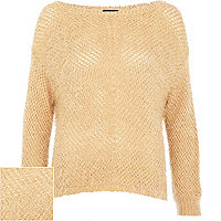 Light pink eyelash knit jumper