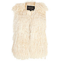 Cream Mongolian fur gilet