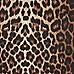 Brown leopard print scuba pencil skirt
