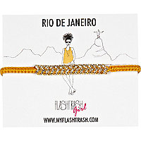 Orange Flash Trash Girl Rio bracelet