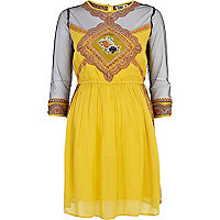 Yellow Chelsea Girl waisted dress