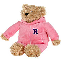 Pink R all-in-one microwave teddy bear
