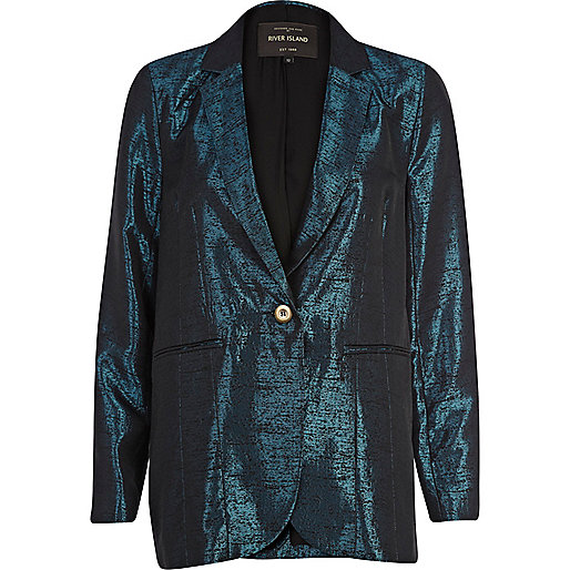 Blue metallic blazer