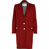 Red classic tailored coat
