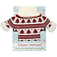 Cream fair isle Christmas jumper warmer