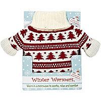 Cream fair isle Christmas jumper warmer