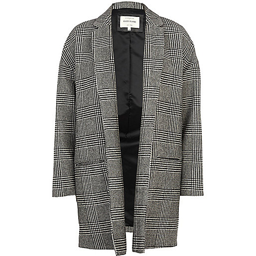 Black check oversized jacket