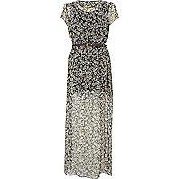 Black Chelsea Girl floral maxi dress