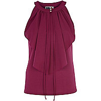 Purple Chelsea Girl frill front top
