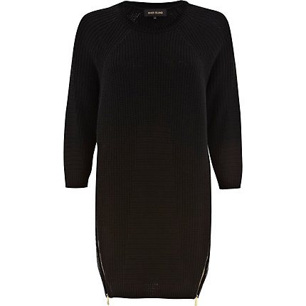 Black geometric pattern jumper dress