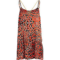 Red Pacha leopard print body chain dress