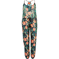 Green Pacha jungle print cami jumpsuit