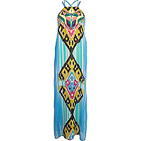 Blue Pacha embroidered tribal maxi dress