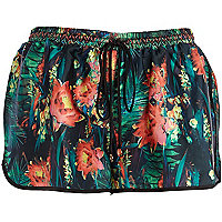 Green Pacha jungle print shorts