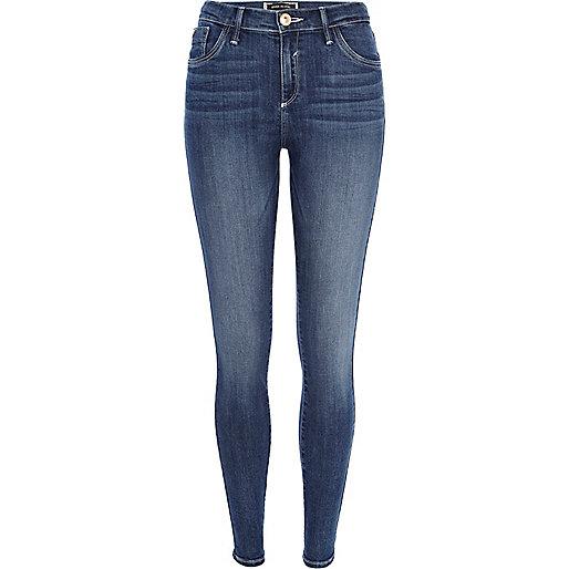 Mid wash Amelie reform superskinny jeans