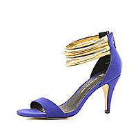 Purple slinky multi chain sandals