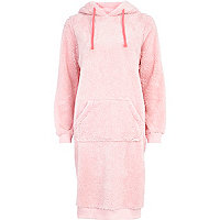 Pink borg hooded night dress