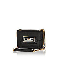 Black mini chain handle bag